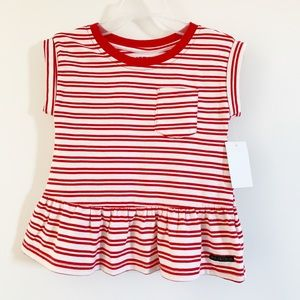 Hudson Jeans Baby Girls Flounce Top.  Size 2t NWT